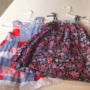 Bundle of girls summer dresses; perfect for 4th